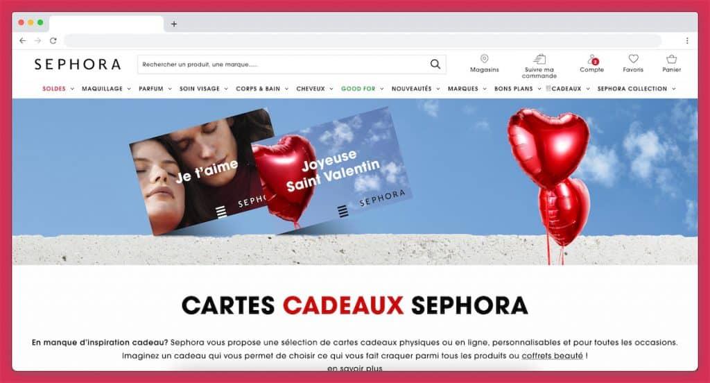 La carte cadeau Sephora