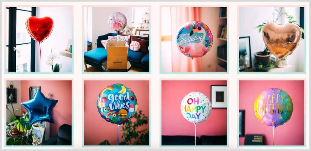 Les différents ballons cadeaux de Mieux que des fleurs