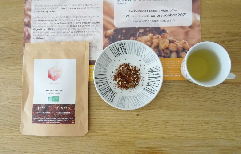colors of tea gourmande desert rouge