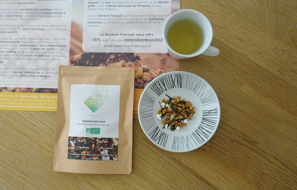 colors of tea gourmande genmaicha pop