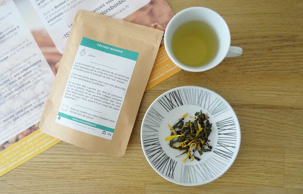 colors of tea gourmande pecher mignon