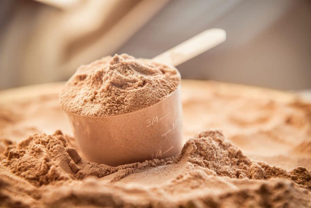 De la poudre de proteine Whey