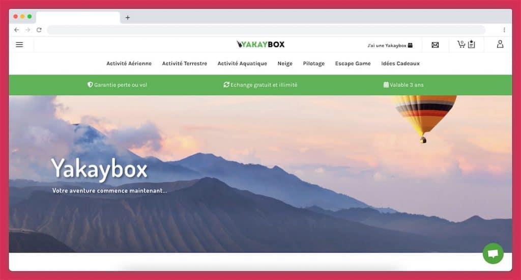 YakayBox : la Box voyage sport et aventure