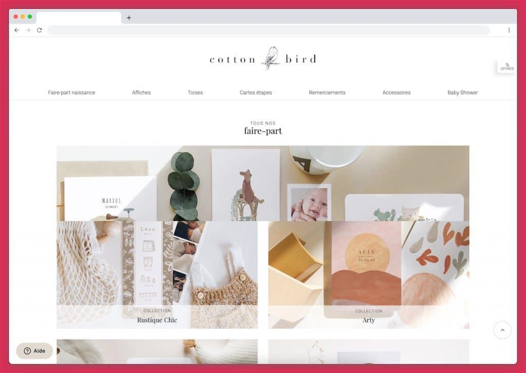 Les belles cartes de Cotton bird aux illustrations uniques