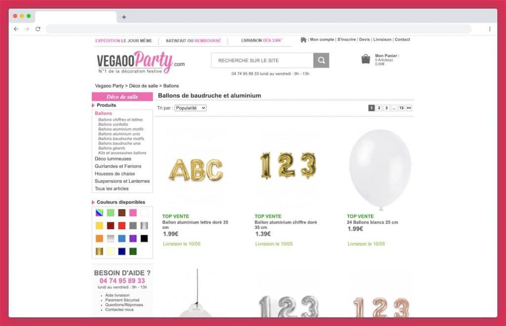 VegaooParty : le spécialiste de la fête et des ballons