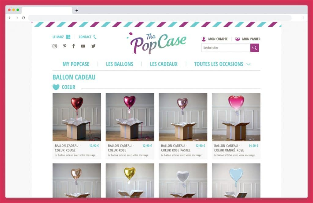 The pop case : un ballon coeur en toute occasion