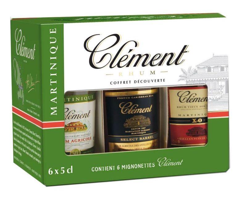 Le coffret rhum Clément 6 X 5cl : le coffret de rhum martiniquais