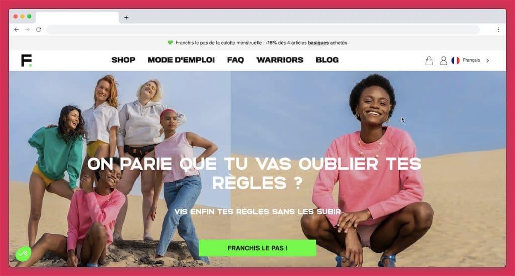 Fempo : la culotte de règle précurseure en France