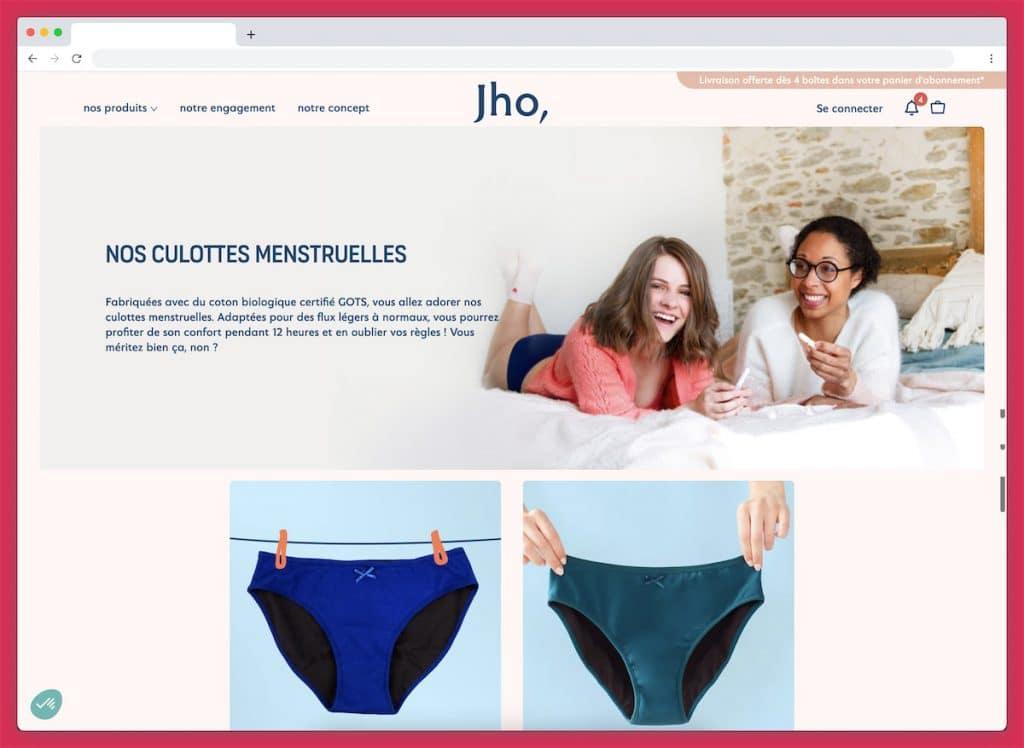 jho : la culotte menstruelle respectueuse des femmes et de l'environnement