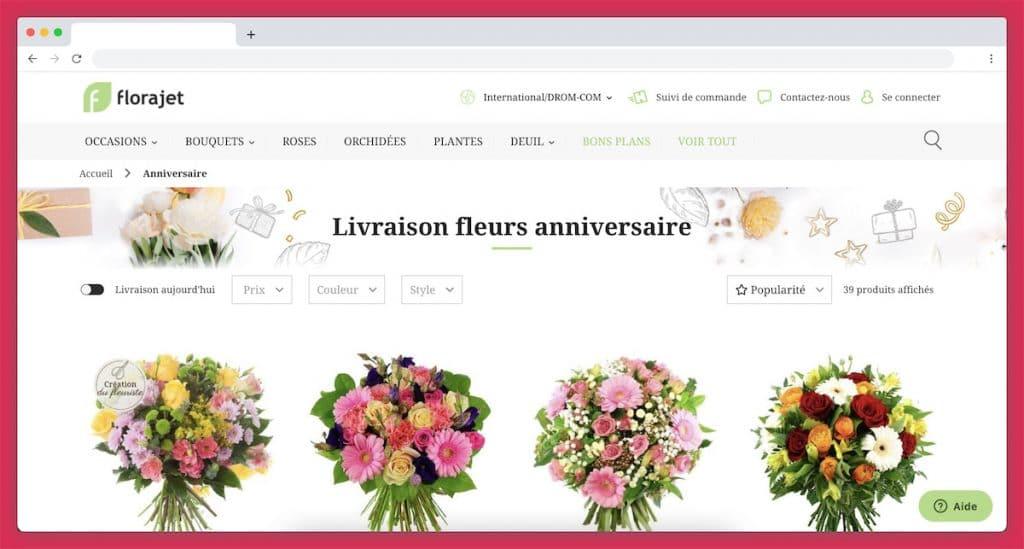 Florajet : la meilleure sélection pour souhaiter un joyeux anniversaire avec des fleurs