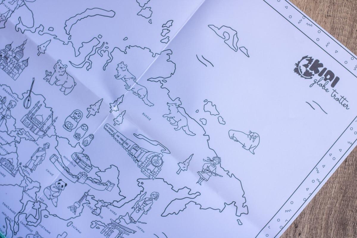 Tous les pays sont présents dans cette carte du monde à colorier