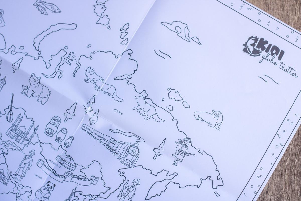 Cette carte du monde n'a plus qu'à être remplie de couleurs