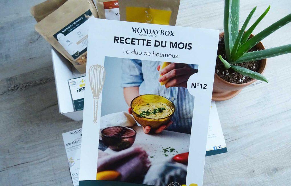mondaybox apéro party recette houmous