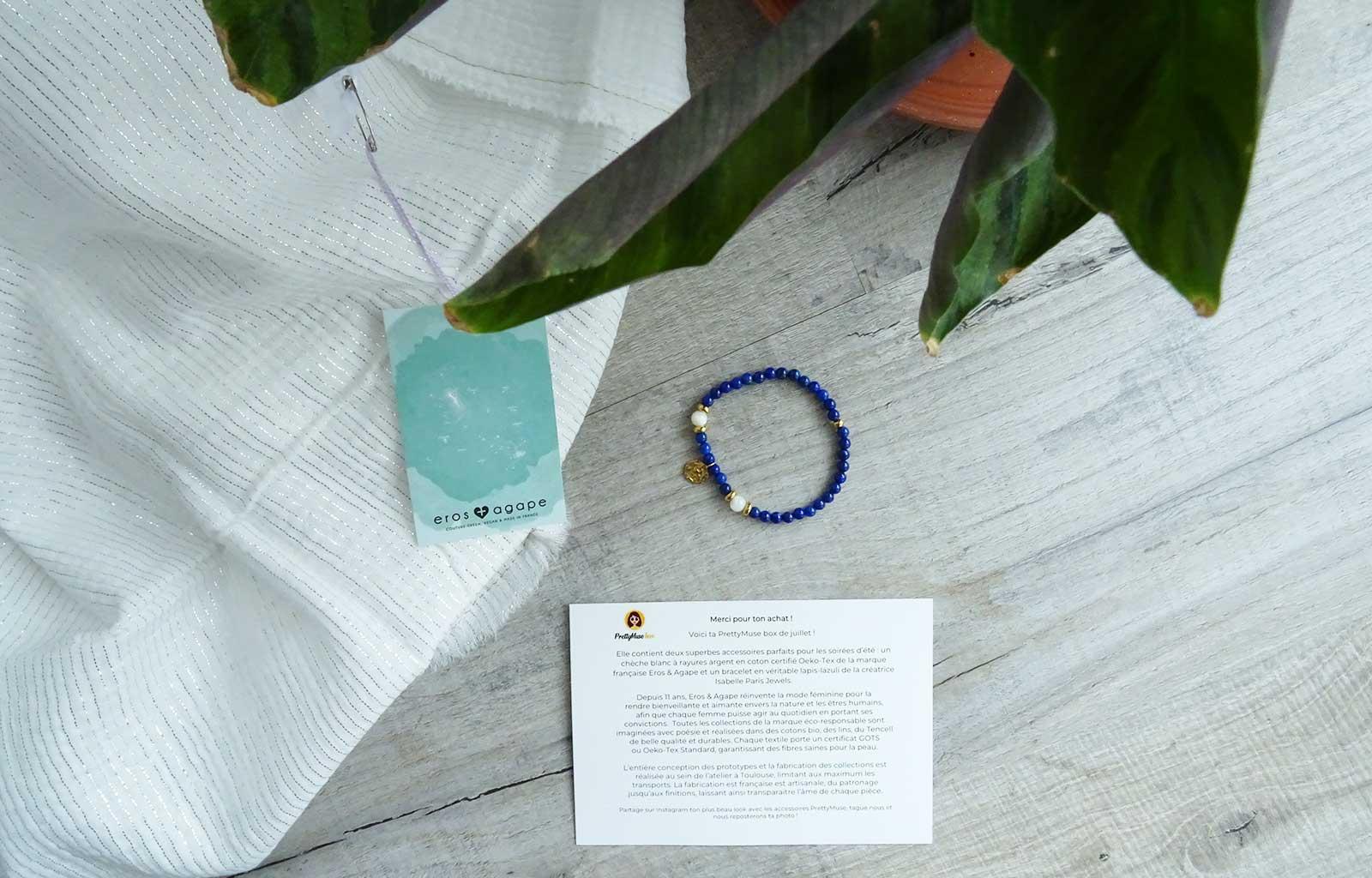 PrettyMuse box chèche Eros & Agape bracelet Isabelle Paris Jewels