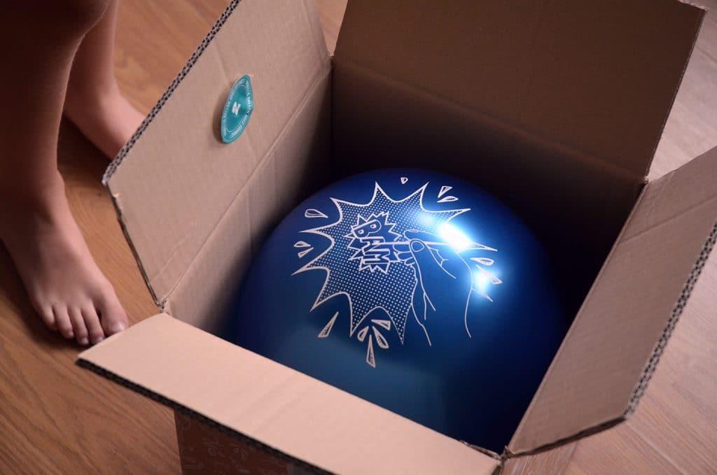 Le ballon dans la Bam Box