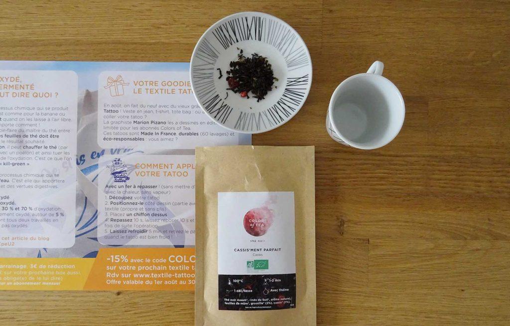 colors of tea cassis'ment parfait