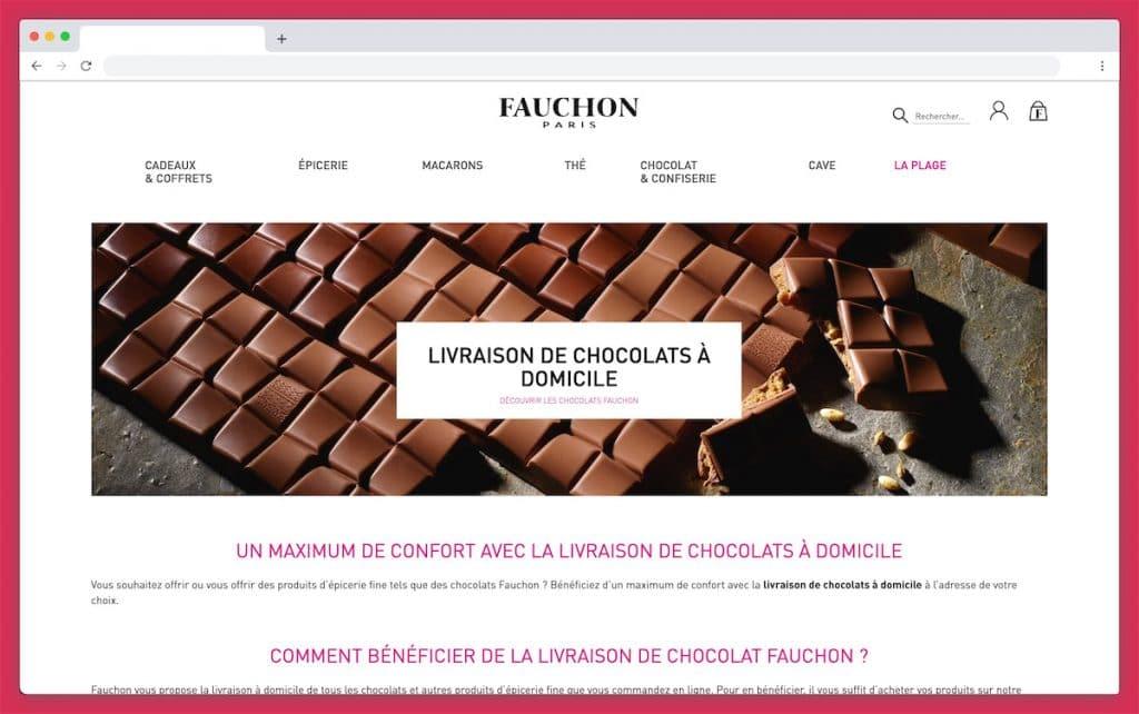 Fauchon : livraison chocolat prestige avec chauffeur