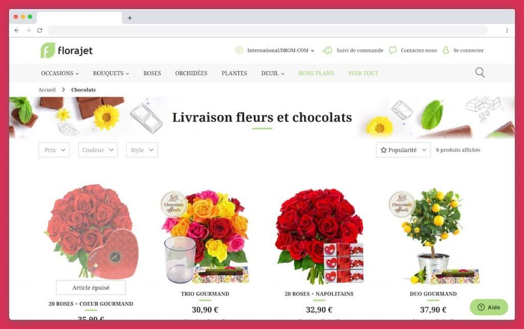 Florajet : des fleurs et des chocolats livrés par un artisan local