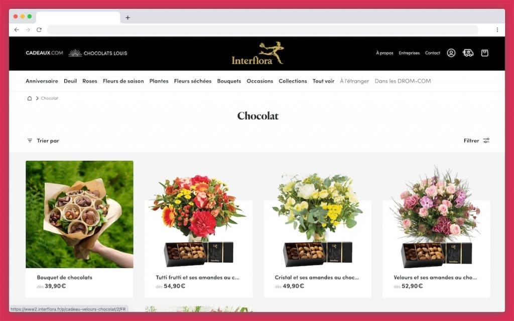 Interflora : fleurs fraîches et bons chocolats garantis à prix mini