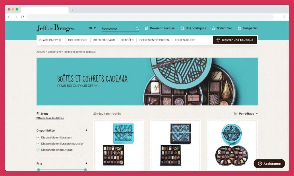 Jeff de Bruges : chocolats livrés frais sous 24H
