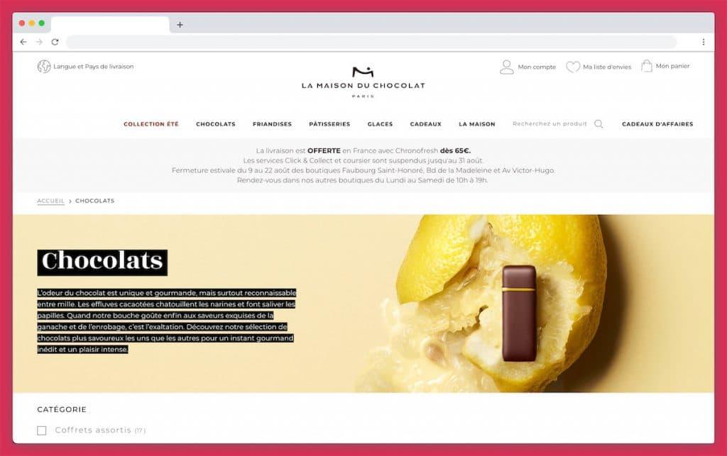 La Maison du Chocolat : livraison chocolat le jour même à Paris !