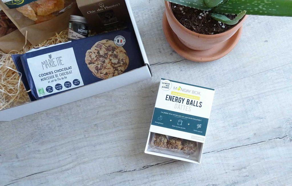 Monday box coquillages & crustacés energy balls