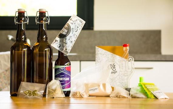 Une Petite Mousse : le kit de brassage d'une bière blonde médaillée