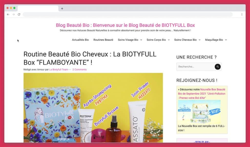 Biotyfullbox, la routine pour cheveux bio