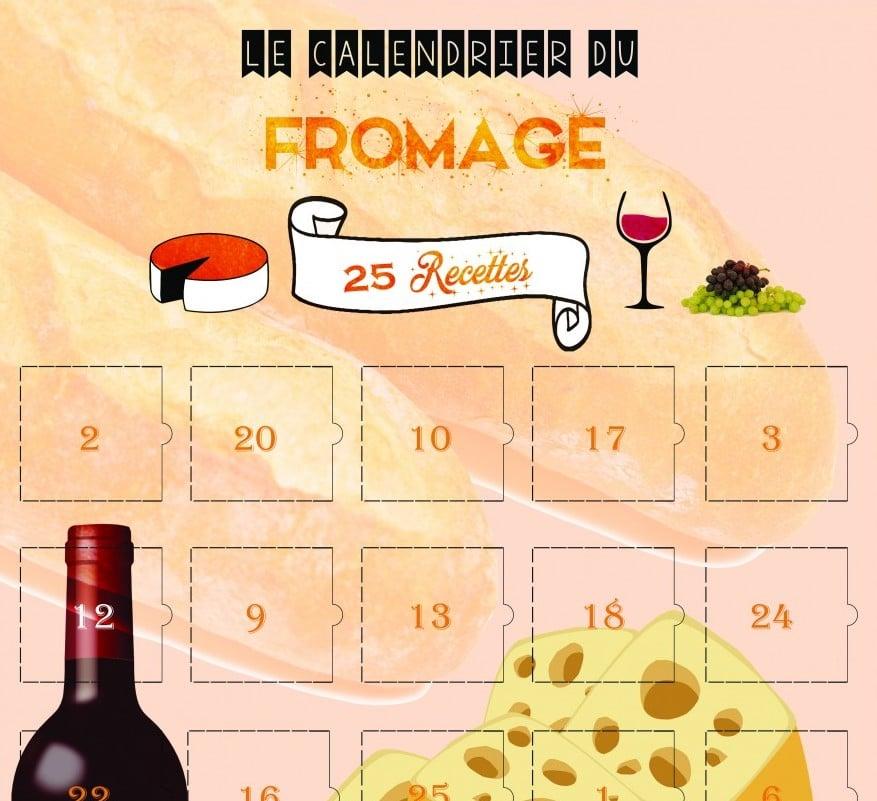 Calendrier événement : un calendrier de l'Avent riche en recettes fromagères