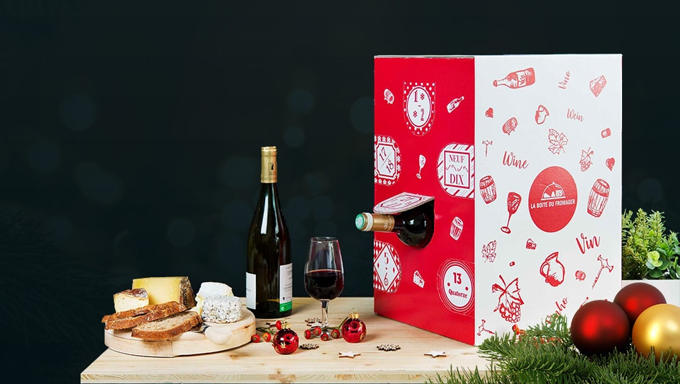 La Boite Du Fromager : le calendrier de l'avent avec 12 vins surprises avant le réveillon