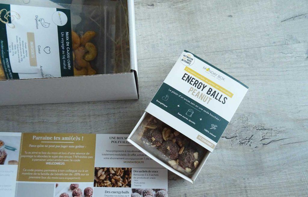 mondaybox rentrée energy balls peanuts