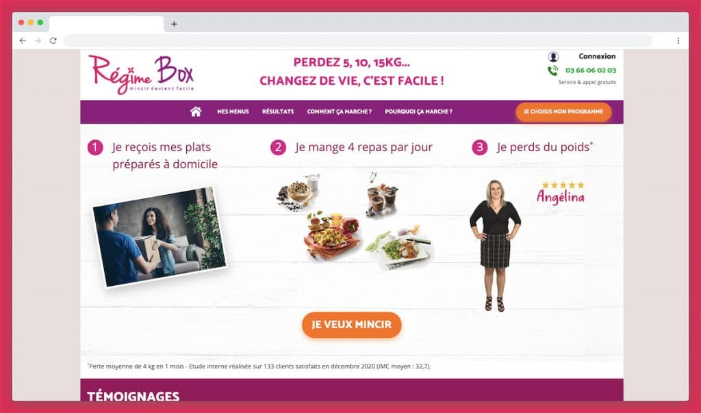 Regimebox : vos repas minceurs en un clic