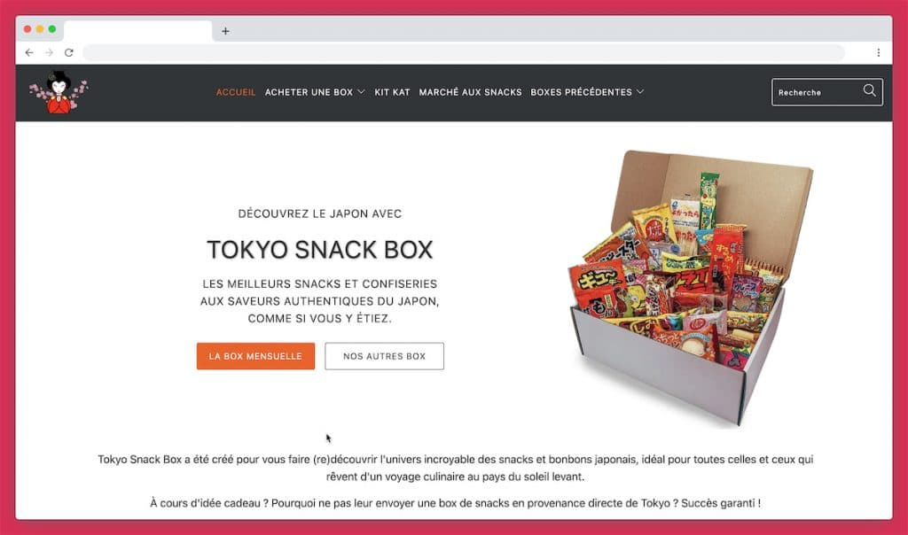 La Tokyo Snack Box, la box kawaii aux notes acidulées