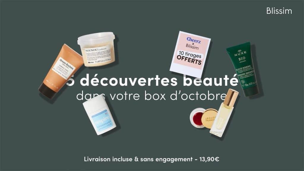 Les produits dans la Box Blissim d'octobre 2021