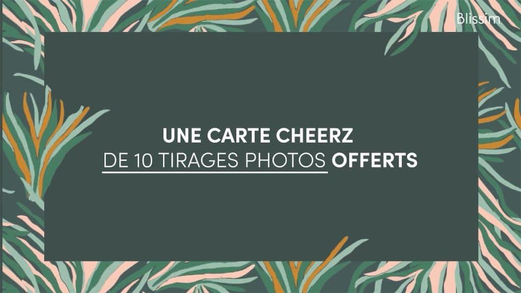 10 tirages photos Cheerz offerts dans votre Blissim d'octobre 2021