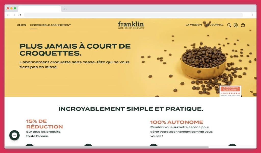 Franklinpetfood : la croquette mono-protéine