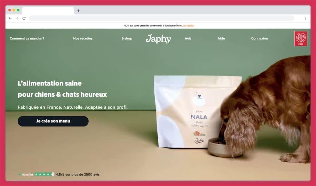Japhy : l'abonnement croquette pour chien made in France