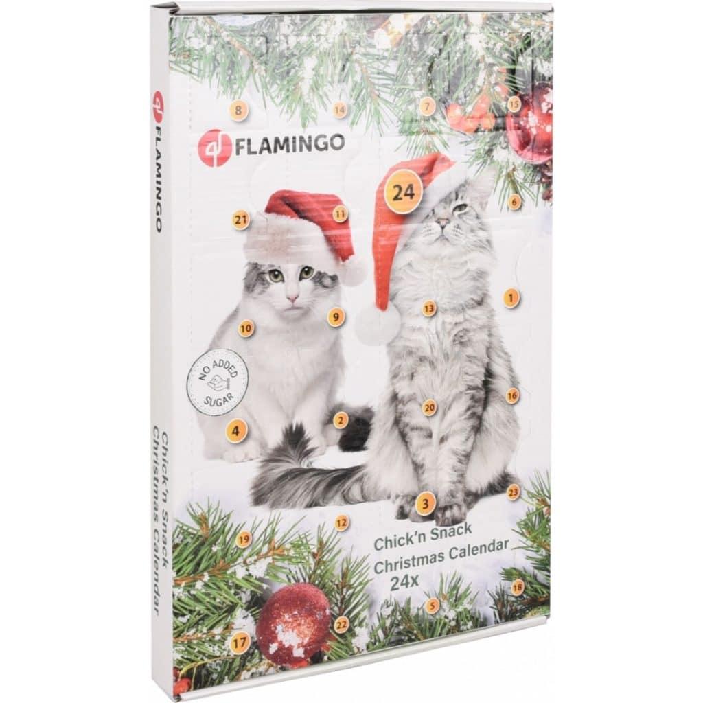 Le calendrier de l'avent pour chat pour Noël Flamingo